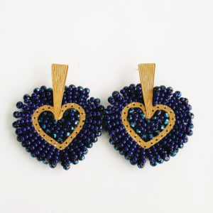 Aretes corazon old navy